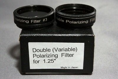 Variable polarising eyepiece filters