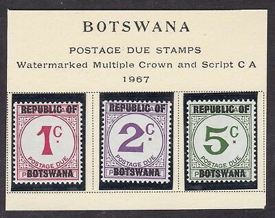 Botswana 1967 - Postage Due - Set of 3 - SG D13/15 - MNH  (A6H)