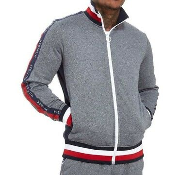 0501e69c MENS TOMMY HILFIGER GREY ZIP UP TRACKSUIT Authentic Brand New With Tags  Size M