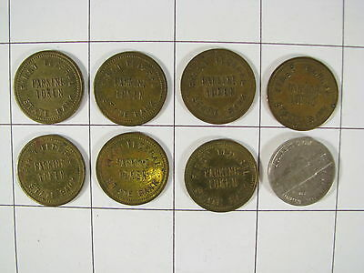 Lot of 7 Vintage First Federal State Bank Iowa Parking Tokens