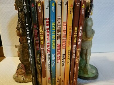 Lot of 10 Vintage Western paperbacks Bradford Scott Walt Slade some 1st printing