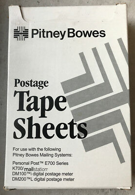 Genuine Pitney Bowes 620-9,150 Postage Meter Tape Sheets,300 Labels, E700