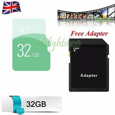 32GB SD Card High Speed + Adapter TF Flash Memory Storage Card For Phone Tablets