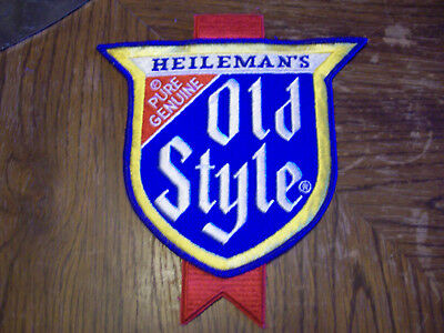 Large Vintage Heileman's Pure Genuine Old Style Beer Patch   (Put On )  Jacket