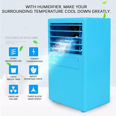 Mini Portable Cooling Air Conditioning Unit Bladeless Fan Low Noise Home Cooler
