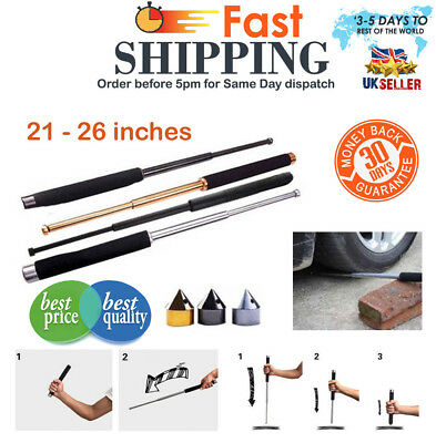 Retractable Stick Self-Protector Telescopic Whip Rod Outdoor Tool+Cap 26 inch UK