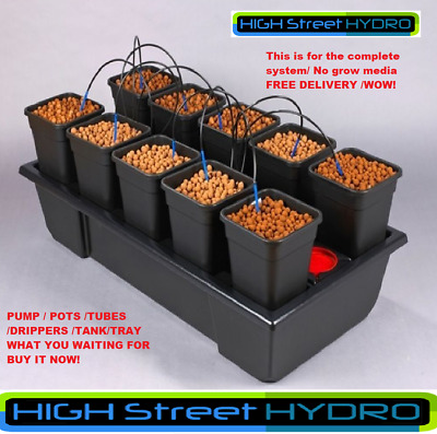 10 Pot Wilma System. Hydroponics Atami Wilma 10 Dripper Grow System Kit. NEW
