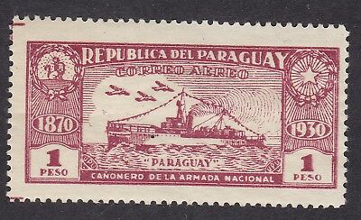 Paraguay 1931 - Gunboats - 1 peso red - Mint  (B12E)