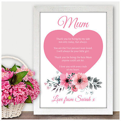 Mother of the Bride Wedding Gift Personalised Mum Poem Verse Gifts from Bride