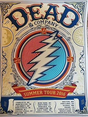 Dead and Company spring tour 2016 poster