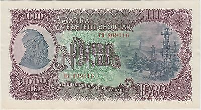 Albania , 1000 Leke , Nd. 1957 , P 32a , Scarce Uncirculated Banknote