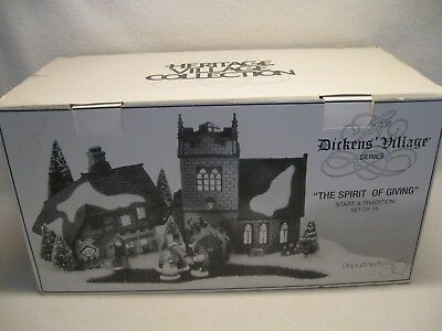 """Dept. 56 Heritage Village Collection Dickens Village """"The Spirit of Giving"""" MIB"""