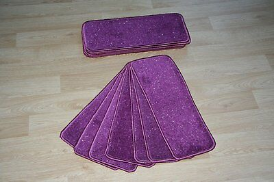 14 Purple Glitter Stair Pads Carpet Stair Treads Purple Sparkle Pad! Large Pads