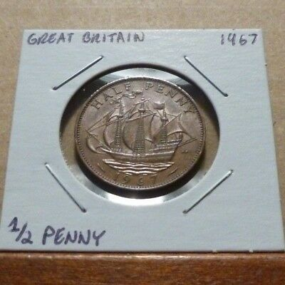 1/2 PENNY COIN - 1967 - Great Britain