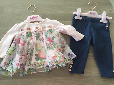 Ted Baker baby girls top and quilted leggings size 3 - 6 months