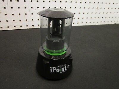 Westcott iPoint Orbit Battery Pencil Sharpener Black / Green *TESTED & WORKS*