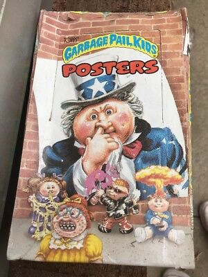 BARN FIND vtg 1986 Topps GARBAGE PAIL KIDS Posters Unopened 36 Wax Pack Box