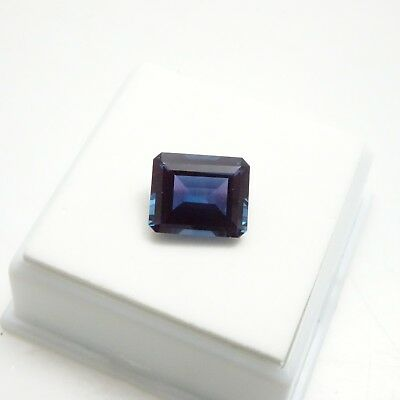 5.50ct Alexandrite - Emerald Cut - 11x9mm - Russian Lab Created Loose Gemstone