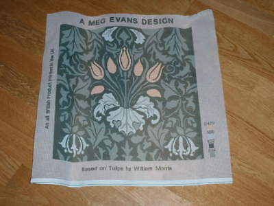 """WILLIAM MORRIS TULIPS PRINTED TAPESTRY CANVAS BY MEG EVANS DESIGN 16"""" x 16"""""""