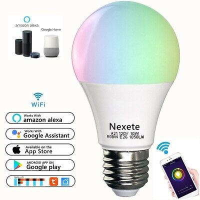 Wifi Smart Multi-Color LED Light Bulb for Amazon Alexa Google Home App Remote
