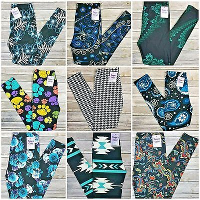EXTRA PLUS Lot of 10 Leggings Tribal Floral Paisley Assorted Wholesale 16-24
