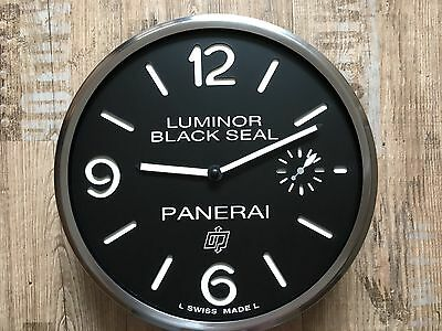 New Luminor Black Seal Panerai Dealer Showroom Promotion Wall Clock