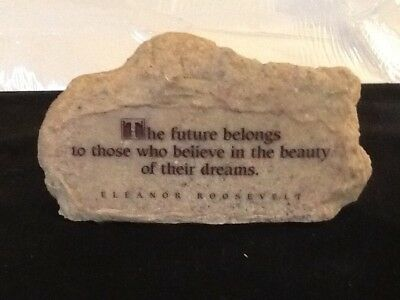 Vintage Inspirational Quote By Eleanor Roosevelt Paperweight Rock