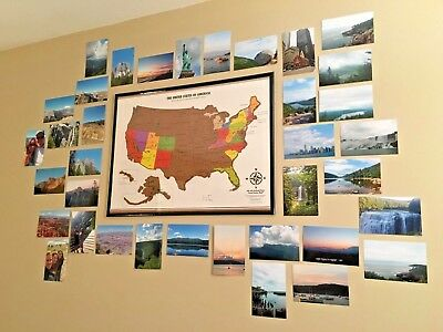 USA TRAVEL Tracker Map Scratch Off Where Youve Been US National - Us map travel tracker