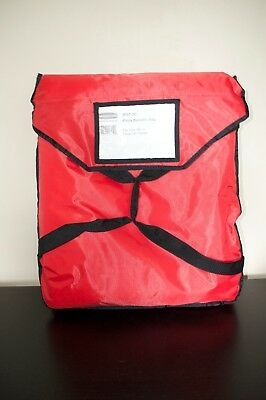 """Rubbermaid 9F35 ProServe Pizza Delivery Bag (FG9F3500 RED) 4 16"""" or 3 18"""" Pizzas"""