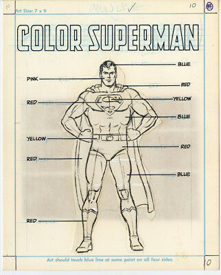 color SUPERMAN Curt Swan origin pasteups How to Draw Super-Heroes DC Comics 1983