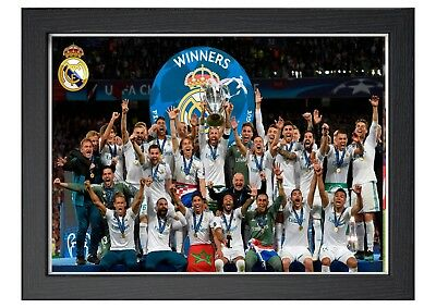 Real Madrid Champions League Final 2018 Winers Lifting Trophy A4 Poster Ronaldo