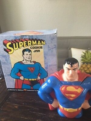 DC Comics Superman Cookie Jar Bust Clay Art collector's edition 1997-1998 #2601