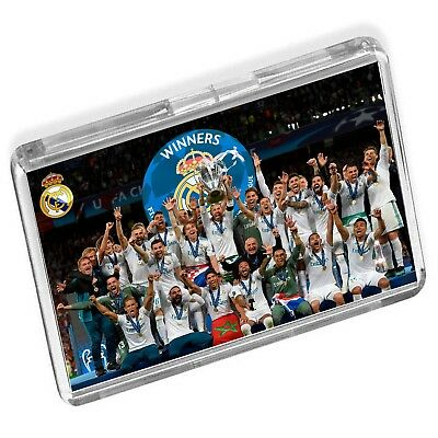 Real Madrid Champions League Final 2018 Winers Lifting Trophy Fridge Magnet