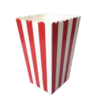 12 Cinema Stripes Treat Party Small Candy Favour Popcorn Bags Boxes,red Q6Q8