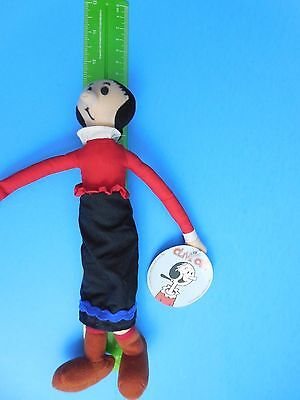 Olive Oyl Plush Doll Stuffed  9 Inches Tall 1994 Features Synticate