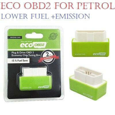 Eco OBD2-OBDII Economy Performance Chip Tuning Box Interface Petrol Cars Green