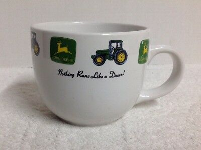 John Deere Large 32 Oz Coffee/Soup Mug By Gibson (Officially Licensed), Used
