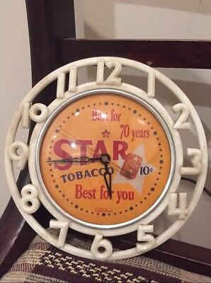 Vintage Star Tobacco Advertising Clock