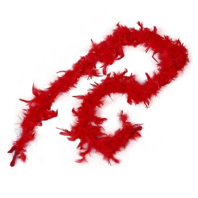 2m Feather Boas Fluffy Craft Costume Dressup Wedding Party Home Decor (Red) F6Y8