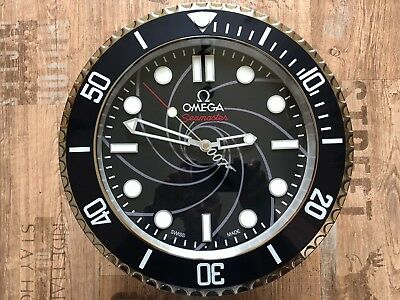 New Omega Seamaster Aqua Terra Actor 007 Casino Royal Dealer Showroom Wall Clock