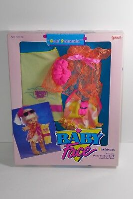 Galoob 1990 Baby Face Goin' Swimmin Doll Fashions Outfit