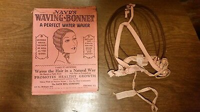 Vtg Nayr's Waving Bonnet Home Permanent Size Medium Center or Side Part 1931