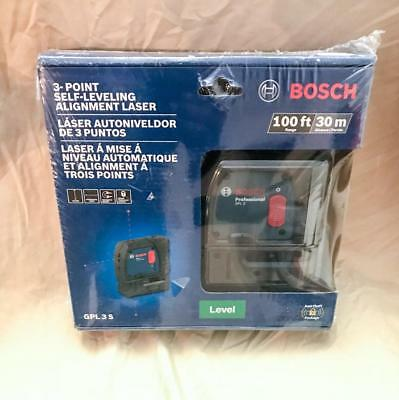 Bosch GPL 3 S 100 ft 3-point Self-Leveling Alignment Laser (NEW)!!!!!!