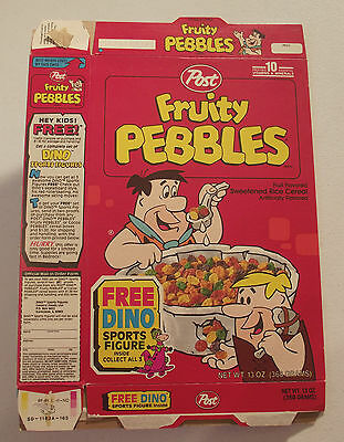 Post Cereal Box Fruity Pebbles Flintstones 1993