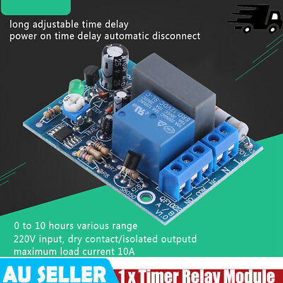 1PCS 220/230V Adjustable Timer Delay Turn On/Off Switch Time Relay Module Hot im