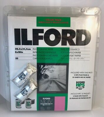 Ilford Value Pack - HP5 400 Plus MGIV Multigrade IV RC Deluxe - 2 Rolls 25 pack