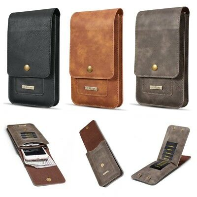 Vertical Leather Carrying Pouch Case Cover With Belt Holster Loop For Cell Phone