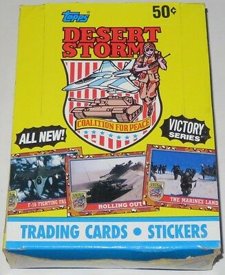 1991 Topps Desert Storm Victory Series 36-Pack Trading Cards Wax Box Brand New