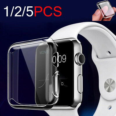 For Apple Watch 3 2 1 Ultra Thin Crystal Hard Protective Case Cover 38mm/42mm US