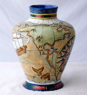"""Rare Cobridge/moorcroft """"voyager"""" Vase L.e. 75/100*first Quality*owned From New"""